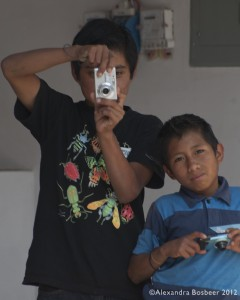 Guatemalan children learning photography